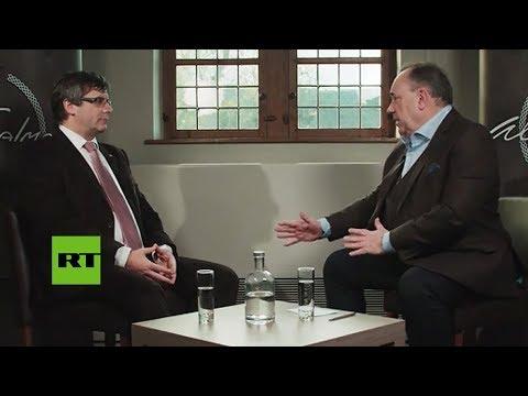 Puigdemont revela su pronóstico para Cataluña en una entrevista exclusiva a RT