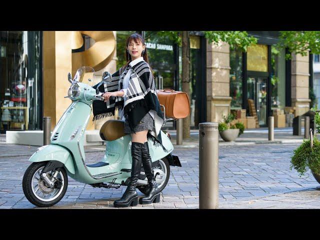 GOGGLE Special Interview 葉月美優×Vespa primavera150ABS