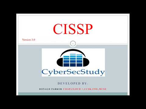 Domain 1 - CyberSecStudy - CISSP - Bootcamp - Free Version