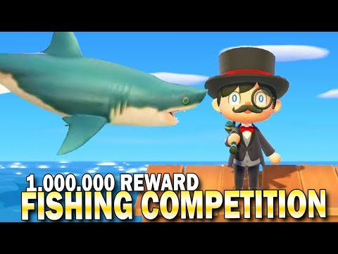 1,000,000 Bell Shark Fishing Competition! Animal Crossing New Horizons Southern Hemisphere  Fishing