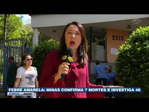 MG: Sete mortes por febre amarela são confirmadas