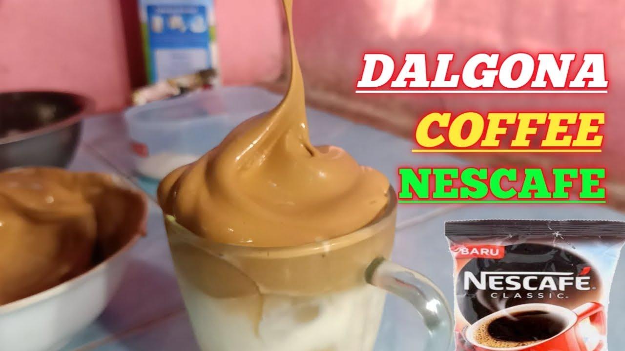 Cara membuat dalgona coffee.Dalgona coffee Nescafe.Coffee ...