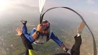 AFF Jump, pilot chute entanglement with the instructor