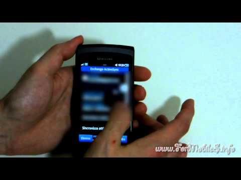 Samsung Wave II (S8530) - Prima accensione, sincronizzazione con contatti Gmail e Facebook