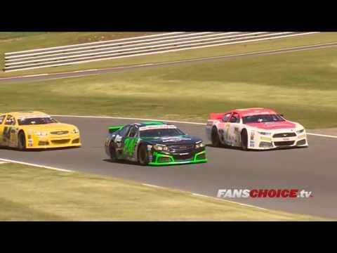 NASCAR Whelen Euro Series (Elite 1) 2017. Race 1 Brands Hatch. Restart & Last Laps