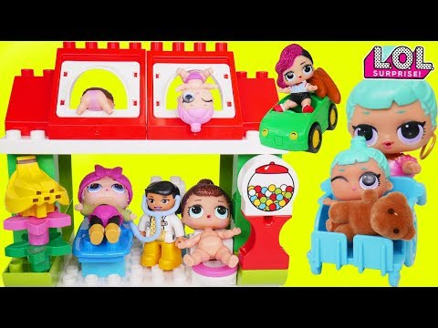 L.O.L. Surprise! Dolls Baby Babysit Town House Lil Sisters Playmobil Wrong Boat Strange Cruise!