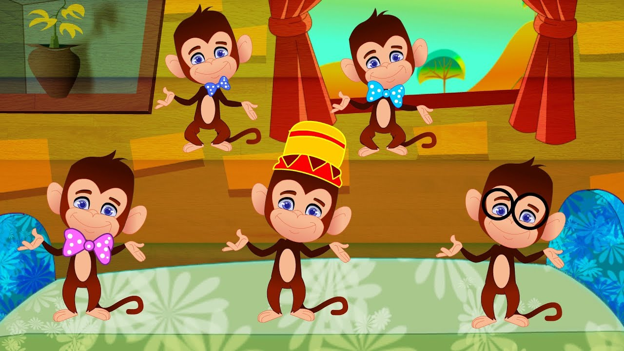 Five Little Monkeys With Lyrics