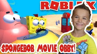 ROBLOX SPONGEBOB MOVIE ADVENTURE OBBY | BRAND NEW JOURNEY TO SAVE KING NEPTUNE'S CROWN