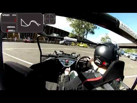 Full Charge Motorsport Electric race car in action at the khanacross 22 05 16 test 5