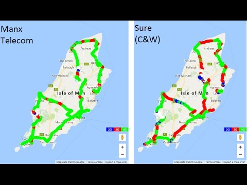 Isle of Man Mobile Network Performance Review: Manx Telecom VS Sure