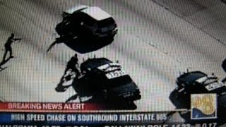 Car-Jacking Pursuit by CHP, Sheriff