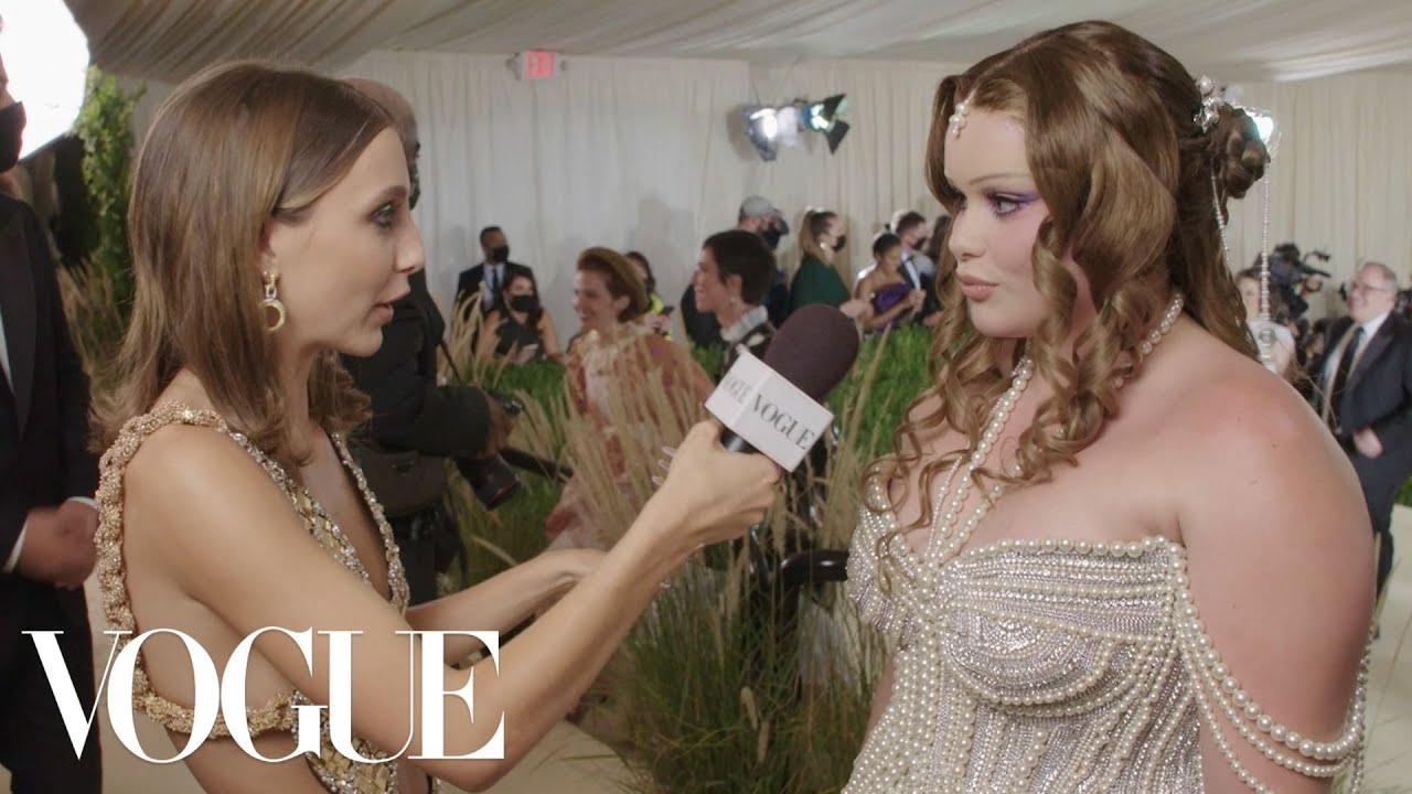 Barbie Ferreira On Her Bedazzled First Met Outfit   Met Gala 2021 With Emma Chamberlain   Vogue
