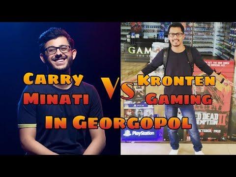 #CarryMinati #KrontenGaming Kronten Gaming Vs Carry Minati + Gareebooo In Georgopol