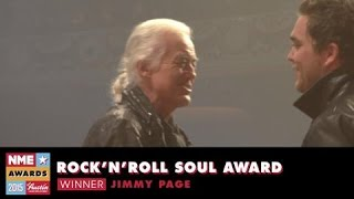 NME Awards 2015 With Austin, Texas: Jimmy Page Accepts Award For Rock