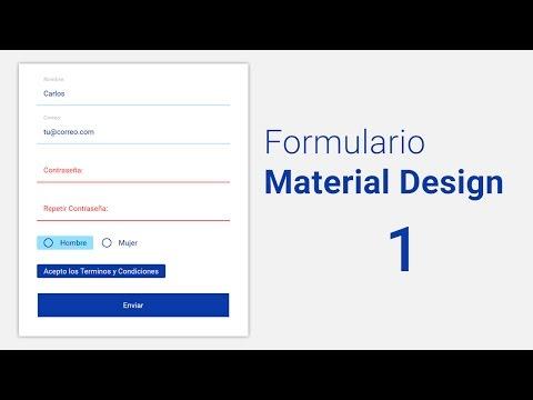 [Taller] Como hacer un Formulario estilo Material Design 1.- Codigo HTML