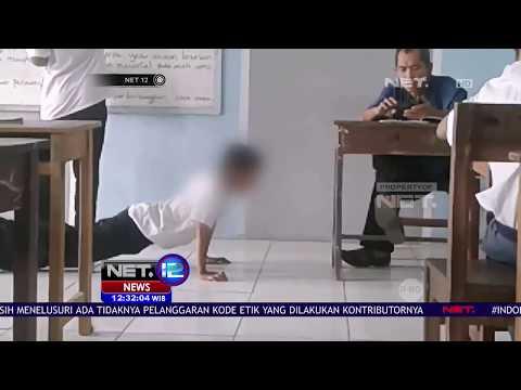 Telat Masuk Kelas, Siswa SMK Ditendang Guru Sendiri - NET12