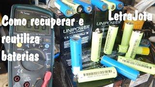 Como recuperar e reutilizar baterias de notebook lítio polímero
