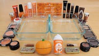 Pumpkin Spice Latte  - Mixing Makeup Eyeshadow Into Slime ASMR 252 Satisfying Slime Video
