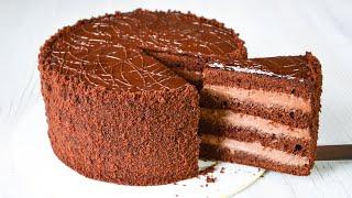 Торт ПРАГА Самый ВКУСНЫЙ ШОКОЛАДНЫЙ торт