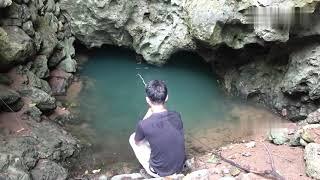 Отправился на рыбалку в дикую таинственную пещеру Кто живет в пещере Сом Интересно