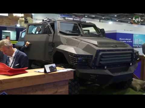 Streit Group unveils Gepard ASV 4x4 Armoured Security Vehicle DSEI 2017 defense exhibition London UK