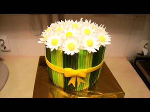 Букет ромашек / Bouquet of daisies. Cake
