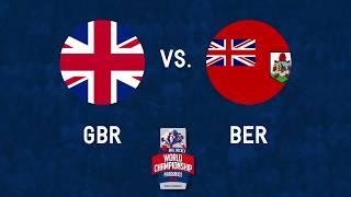 Great Britain vs Bermuda 2017 World Ball Hockey Championships in Pardubice, Czech Republic