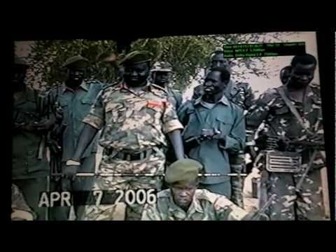 Spla Soldiers from Katiba Tektek of Panthou Dengthin at Leknyang camps,Panrieng in 2006..MOV