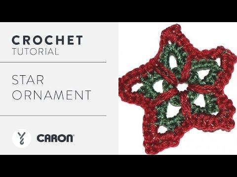 How to Crochet: Star Ornament Tutorial