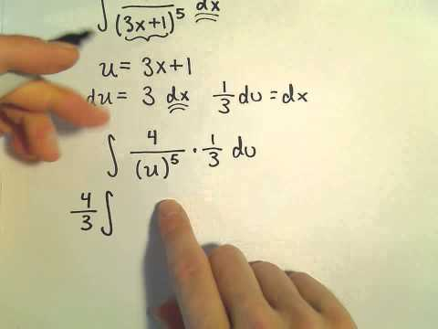 Calculus : U-substitution Involving Polynomial Functions - Ex 1