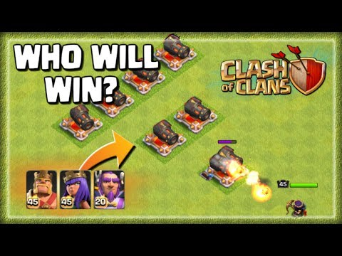 Geared Up Cannon Challenge - MAX BARBARIAN KING v ARCHER QUEEN v GRAND WARDEN  | Clash of Clans