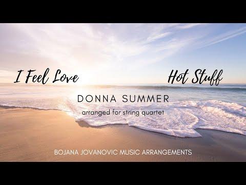 HOT STUFF (Donna Summer) I FEEL LOVE - SHEET music for STRING quartet