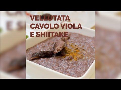 Vellutata cavolo viola e Shiitake - IoBoscoVivo