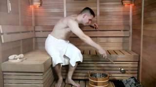 видео сауна с бассейном