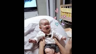 [107일] 깔깔깔 잘웃는 아기 아빠와 즐거운 시간 +…