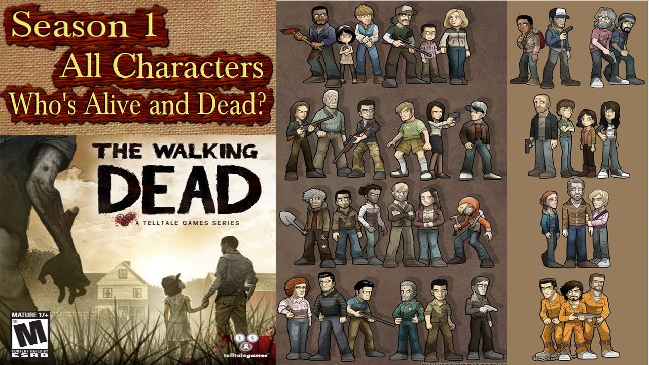 The Walking Dead Game All Characters Season 1 Whos Alive Or Dead