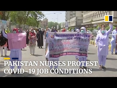 Pakistan nurses boycott work, stage protest for better job conditions during pandemic