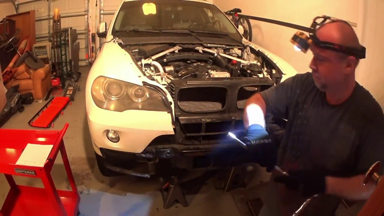 bmw x5 e70 radiator fan removal