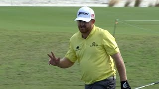 J.B. Holmes takes 2 attempts for chip-in at Hero World Challenge