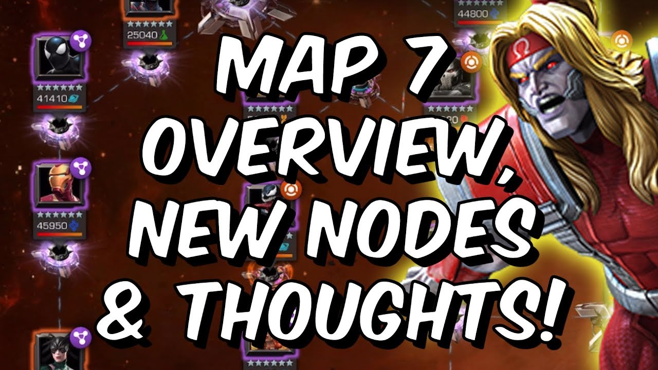 Alliance Quest Map 7 Overview, New Nodes, Thoughts & Omega Red Boss -  Marvel Contest Of Champions