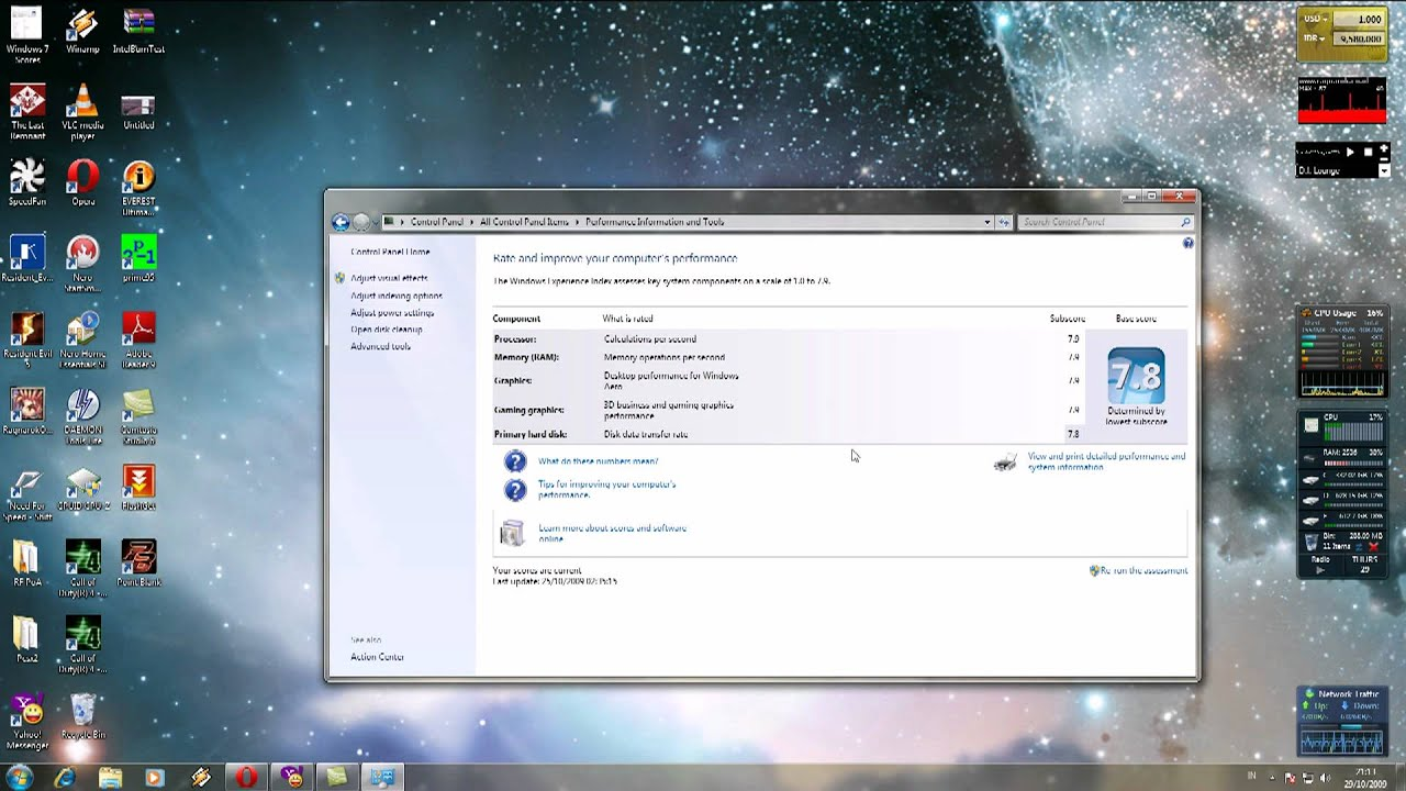 how to find windows experience index windows 7