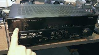 Не включається AV-ресивер YAMAHA RX-V375
