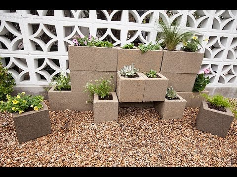 How to Build a Cinder Block Garden Wall with Justin ... on Backyard Cinder Block Wall Ideas id=56487