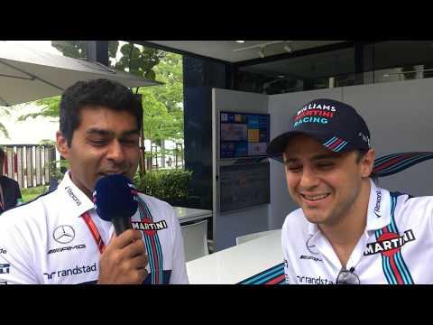 Williams TV: Karun Chandhok catches up with Felipe Massa ahead of the Malaysian GP