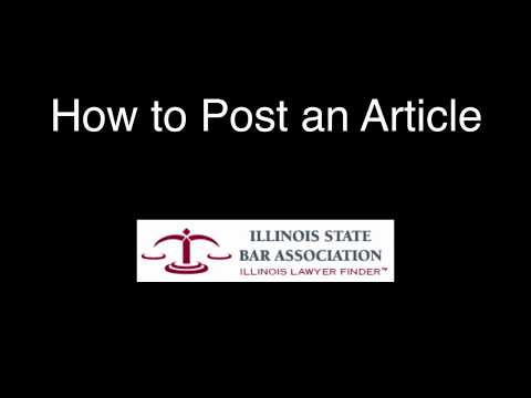 How to Post an Article in the Illinois Lawyer FInder