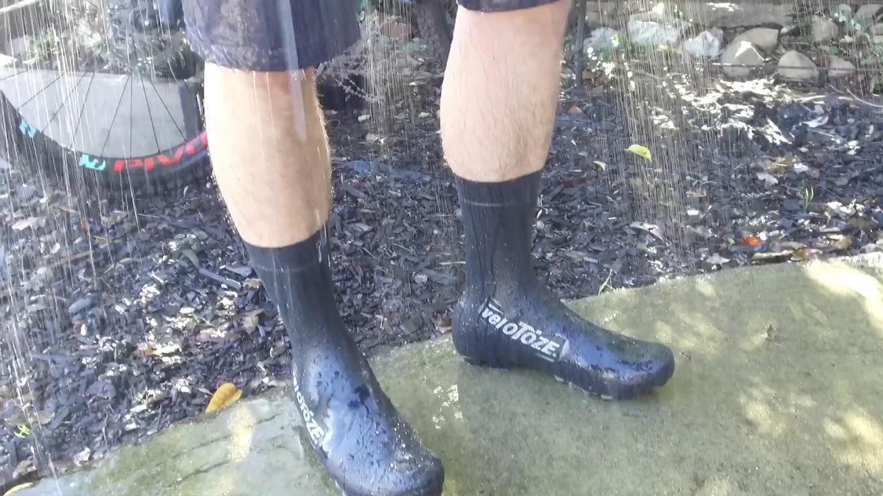 Tall MTB Shoe Cover Rain Test - YouTube