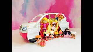 L.O.L Surprise COLOR CHANGING Lil Sisters Dolls and Musical Fisher Price SUV!