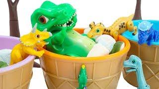 공룡메카드 말하는 알공룡 티라노, 그 많은 젤리를 혼자 다 먹었어!? 람베오 랑 브라키오 가 얼마나 좋아하는데! | 토이문