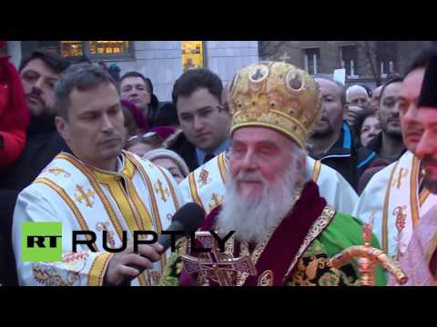 Serbia: Serbs celebrate Orthodox Christmas Eve with traditional oak log fire
