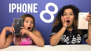 MARY AND IZZY GET THE NEW IPHONE 8 PLUS - UNBOXING THE NEW IPHONE 8 PLUS